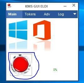 Click On Red Button in KMSpico