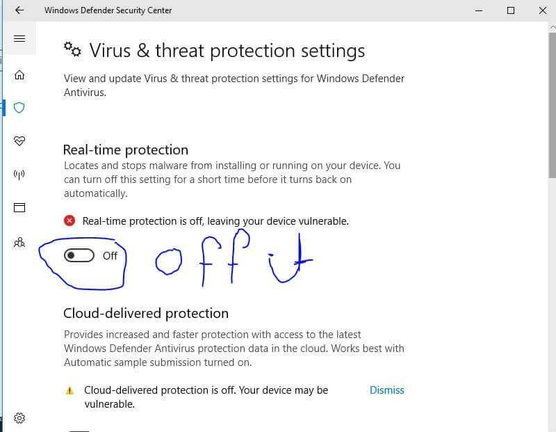 Disable your antivirus or Windows Defender 2020