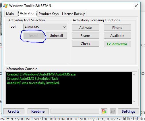 Install KMS In Toolkit