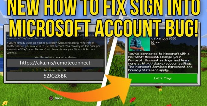 Fix: aka.ms/remoteconnect Minecraft Microsoft Sign-in Bug on PS4 Easily
