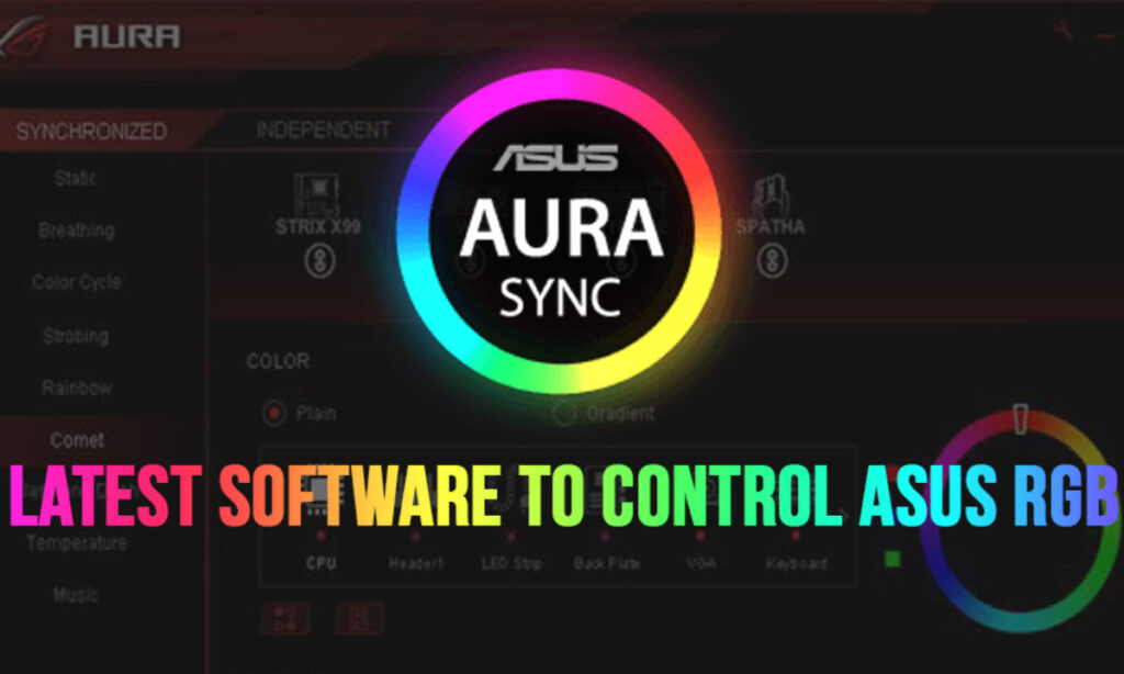 Latest Software to Control Asus RGB: Asus Aura Sync Download