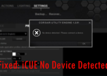 How to Fix Corsair iCUE No Devices Detected Error